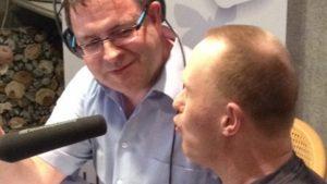 Prokkelstage René bij Radio 794 in Heerde