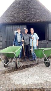 Prokkelstage Roy, Roelof en John bij de schaapsherder (2)