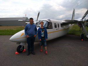 Prokkelstage Thijs en Marco bij vliegveld Teuge (2)