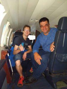 Prokkelstage Thijs en Marco bij vliegveld Teuge